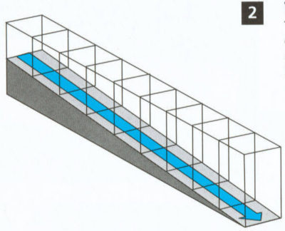 Linear Fall Trench Drain Illustration