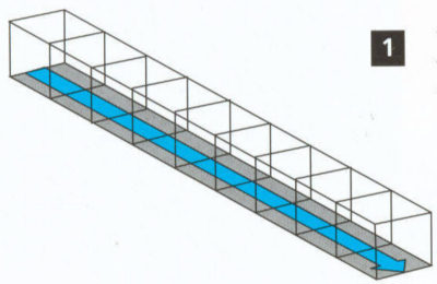 No Fall Trench Drain Illustration