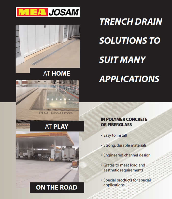 Trench Drain Solutions to Suit Many Applications