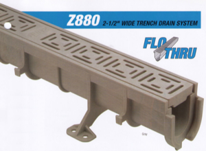 2 Inch Wide Zurn Z880 Complete Trench Drain Kits For Pools