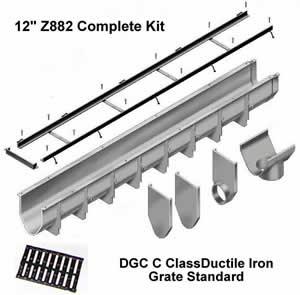 Z882 Complete Trench Drain Kits