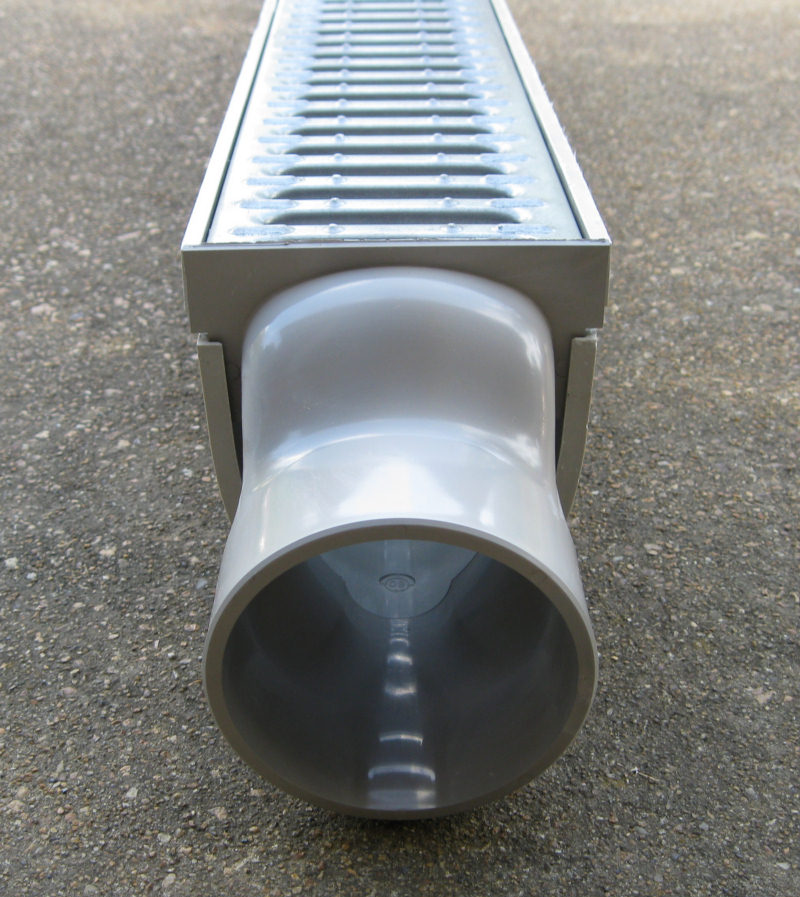 "CPS 100 MEA-JOSAM 10' Commercial Trench Drain Kit, 4"" Wide"