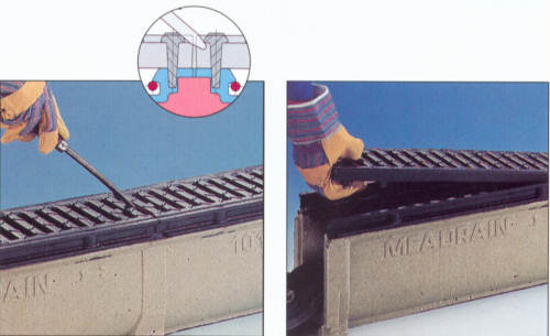 Profix Trench Grate Removal Demo