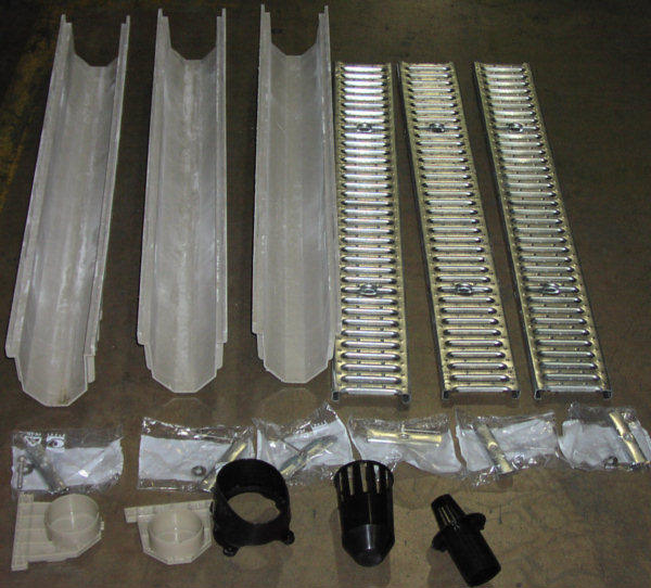 Side View Polyester Trench Drain Kit