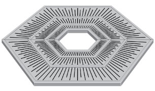 Neenah R-8965 Metropolitan Collection Tree Grate