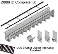 Z886 Trench Drain Complete Kit