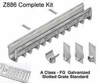 Z886 Trench Drain Complete Kit Picture