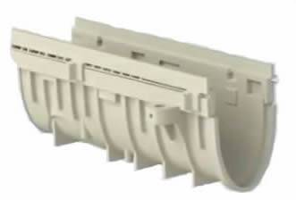 "100-C12 4"" Wide SMC-GRP Trench Drain Channel 1/2 Meter"