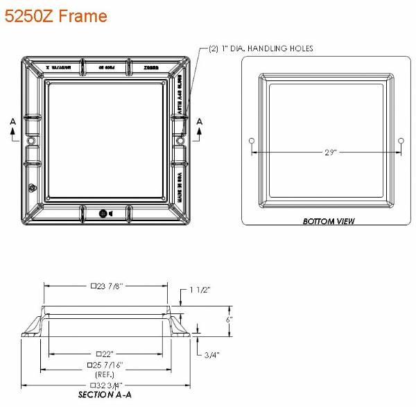 5250z 24 Quot Wide Square 6 Quot Tall Catch Basin Frame By