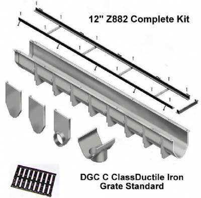 Cpz882 08 12 Quot Wide Zurn Z882 Trench Drain Kit 8 Foot