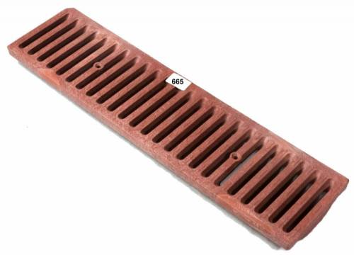 Nds 665 665 Polyolefin Heel Proof Ada Grate Brick Red By