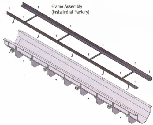 Z882-C 8 foot HDPE Channel and Welded Frame Assy
