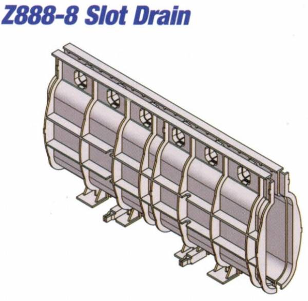 Z888-8 HDPE Slotted Drain 40""