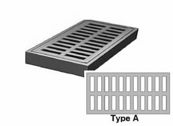 "19 1/2"" Wide Rectangular Type A Grate 1 1/2"" Deep"