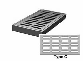 R 4829 24 Quot Wide Rectangular Type C Grate 2 1 4 Quot Deep By