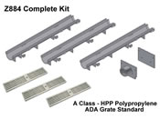 Z884 Trench Drain Complete Kit